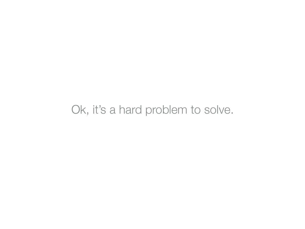 Ok, it's a hard problem to solve.