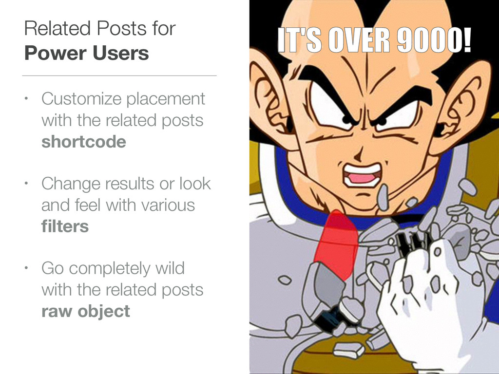 Related Posts for Power Users • Customize place...