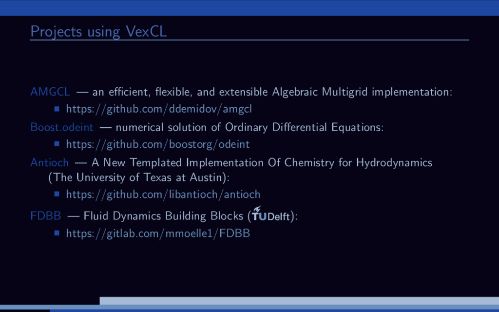 Projects using VexCL AMGCL — an efficient, flexibl...
