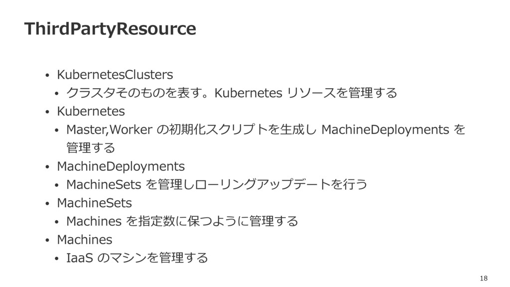 ThirdPartyResource • KubernetesClusters • クラスタそ...