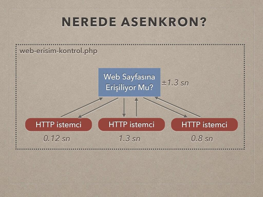 NEREDE ASENKRON? HTTP istemci HTTP istemci HTTP...