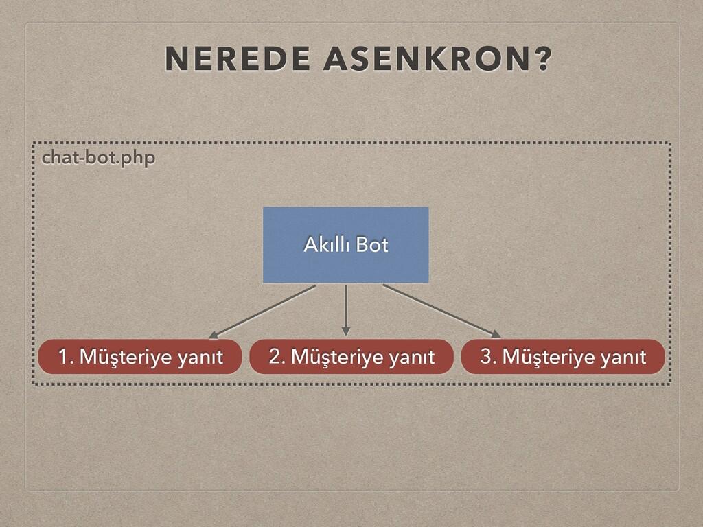 NEREDE ASENKRON? Akıllı Bot 1. Müşteriye yanıt ...