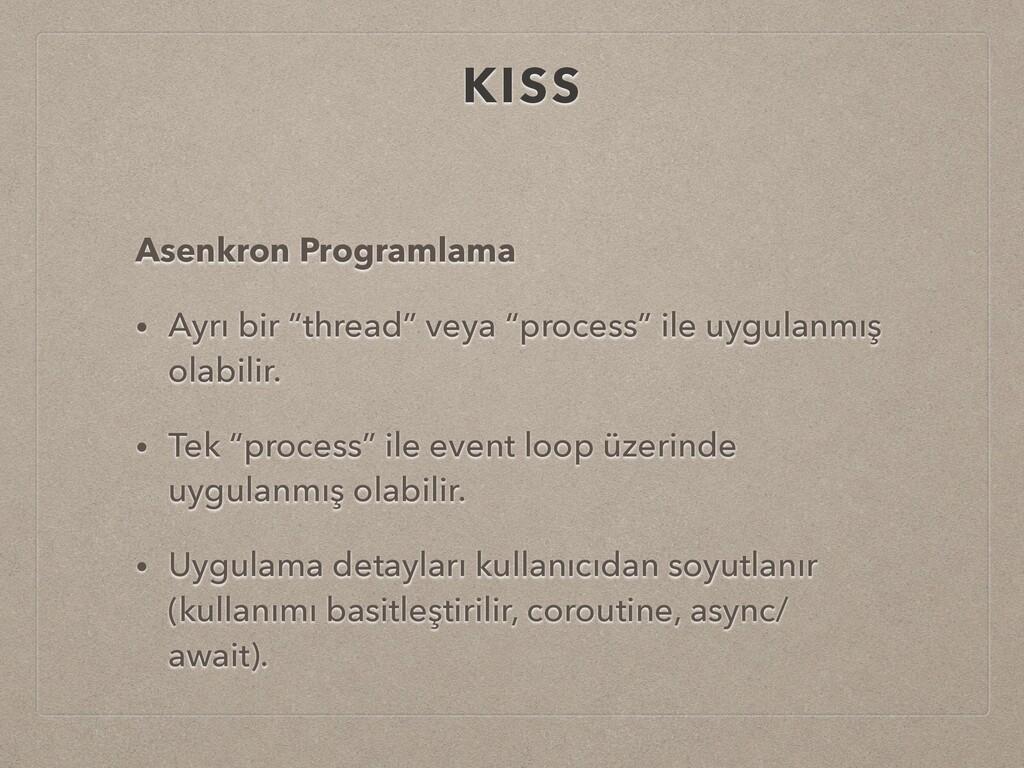 """KISS Asenkron Programlama • Ayrı bir """"thread"""" v..."""
