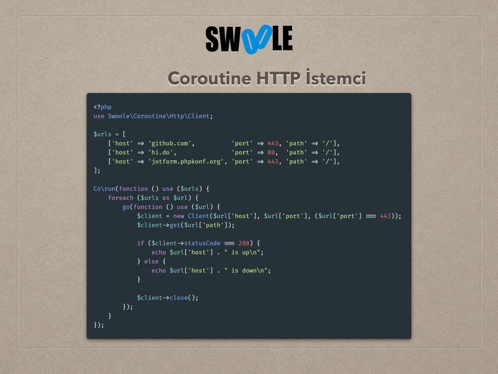 Coroutine HTTP İstemci