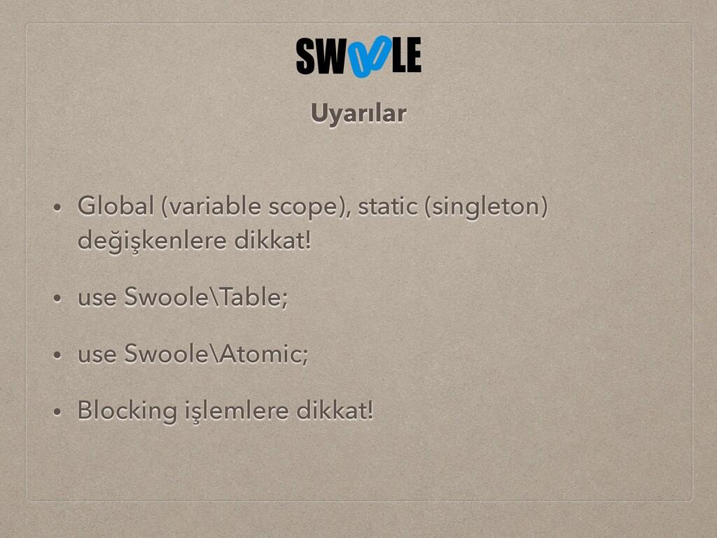 • Global (variable scope), static (singleton) d...