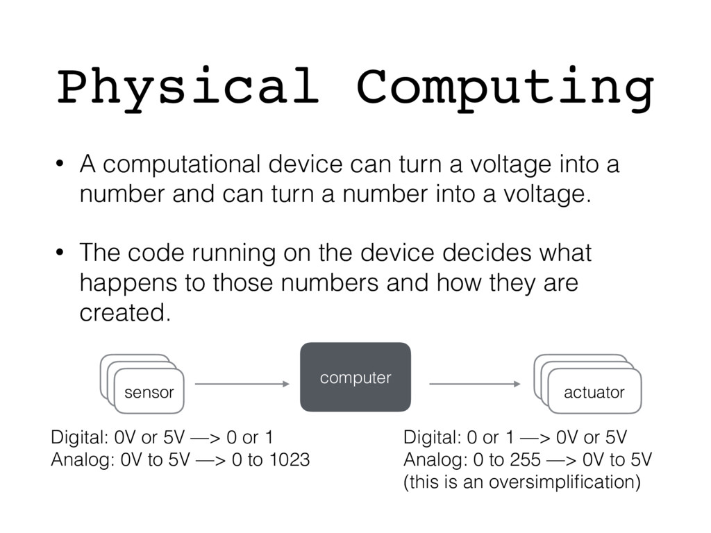 Physical Computing • A computational device can...