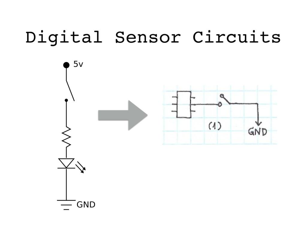 5v GND Digital Sensor Circuits