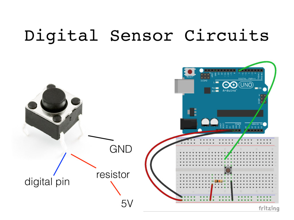 5V GND digital pin resistor switch Digital Sens...