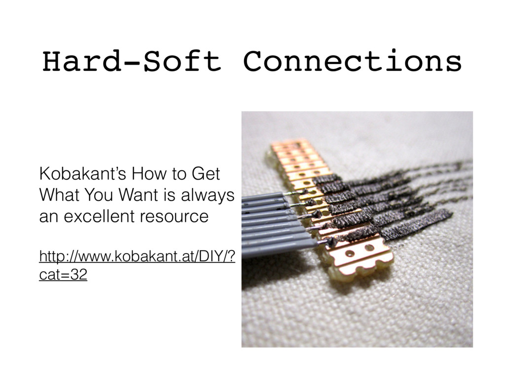 Hard-Soft Connections Kobakant's How to Get Wha...
