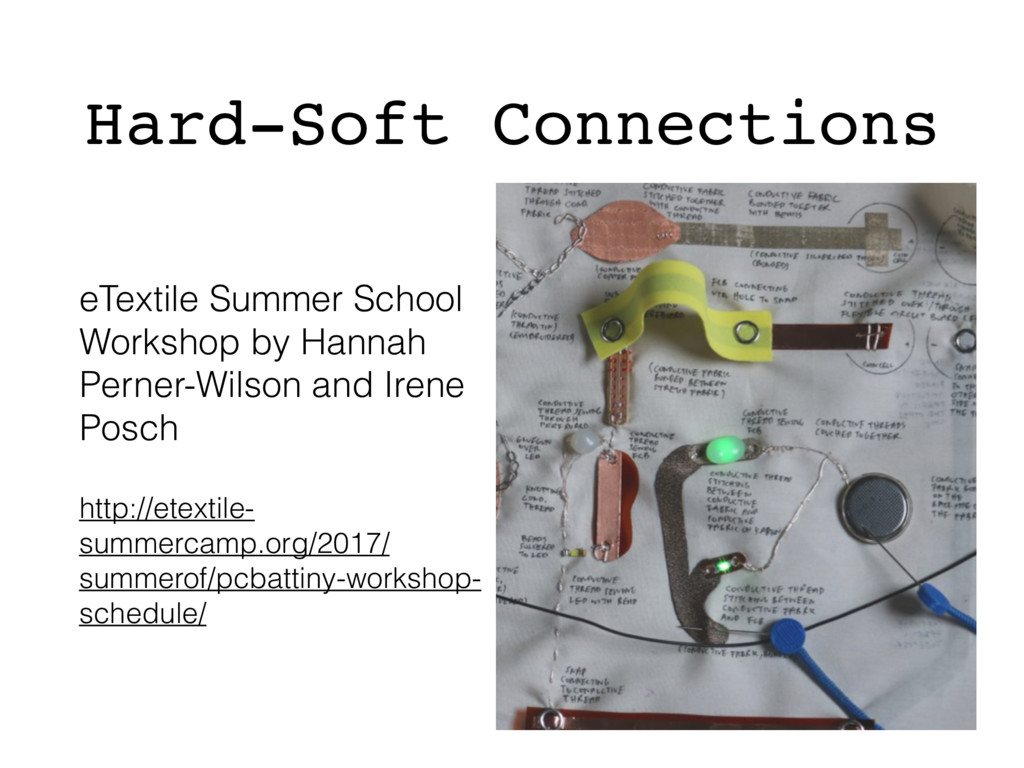 Hard-Soft Connections eTextile Summer School Wo...