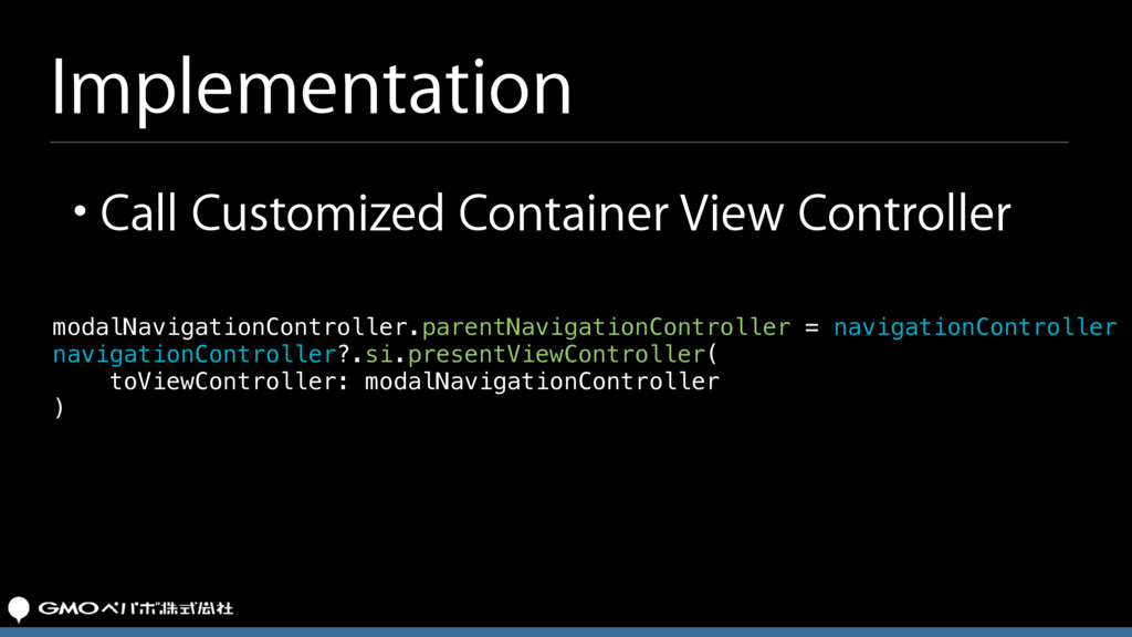 Implementation modalNavigationController.parent...