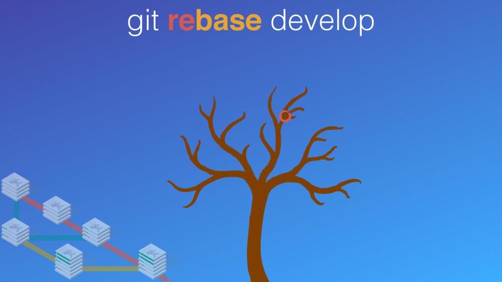 git rebase develop