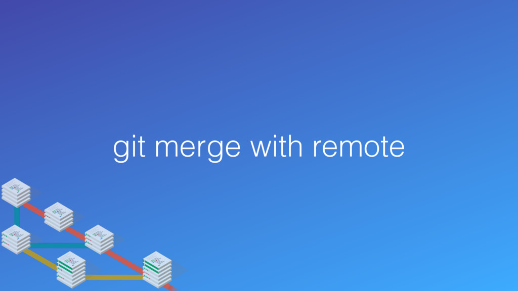git merge with remote