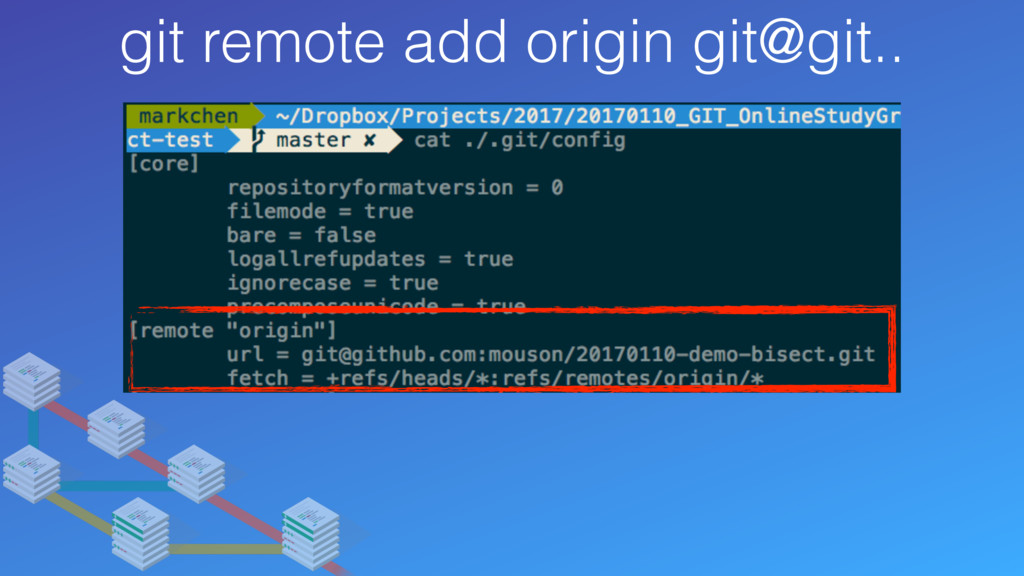 git remote add origin git@git..