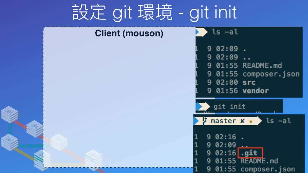 設定 git 環境 - git init Client (mouson)