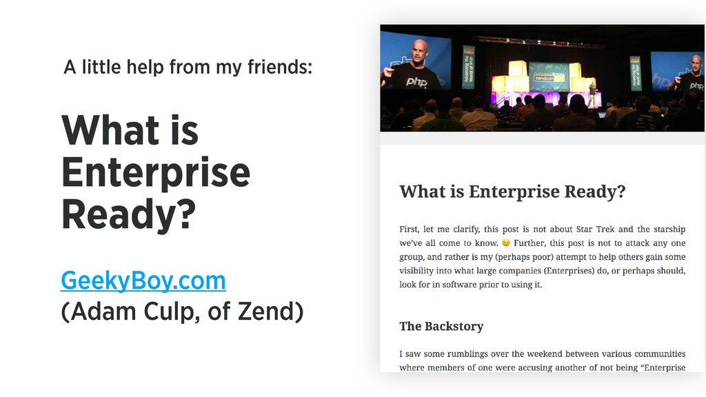 What is Enterprise Ready? GeekyBoy.com (Adam Cu...