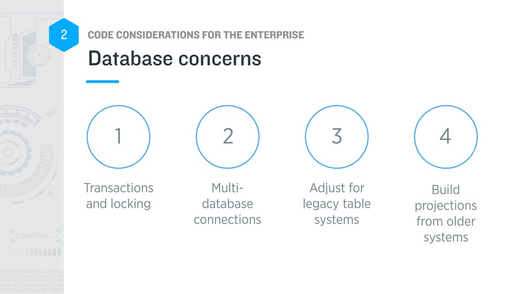 CODE CONSIDERATIONS FOR THE ENTERPRISE 2 Build ...