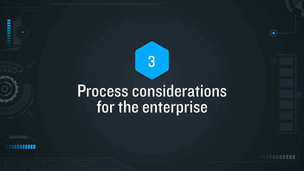 Process considerations for the enterprise 3