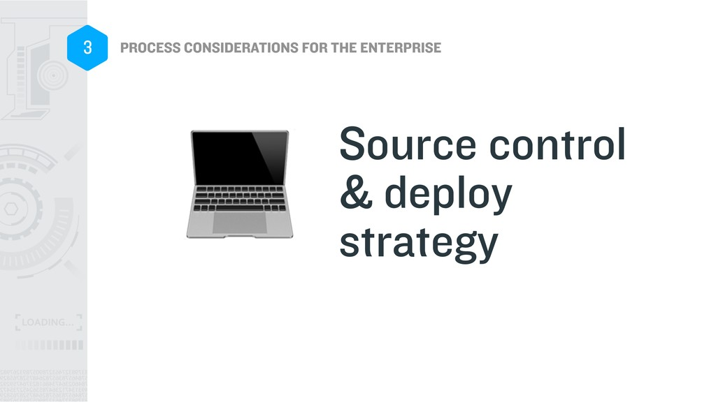 PROCESS CONSIDERATIONS FOR THE ENTERPRISE 3 Sou...