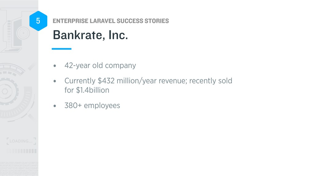 ENTERPRISE LARAVEL SUCCESS STORIES 5 • 42-year ...