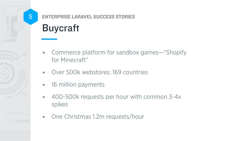 ENTERPRISE LARAVEL SUCCESS STORIES 5 • Commerce...