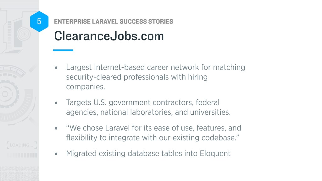 ENTERPRISE LARAVEL SUCCESS STORIES 5 • Largest ...