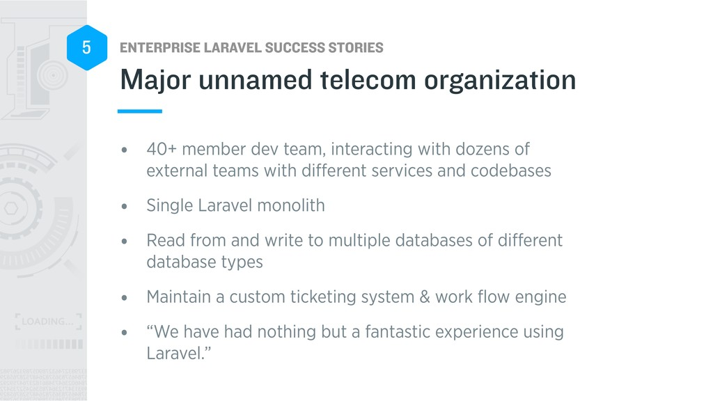 ENTERPRISE LARAVEL SUCCESS STORIES 5 • 40+ memb...