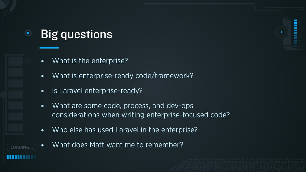 • What is the enterprise? • What is enterprise-...