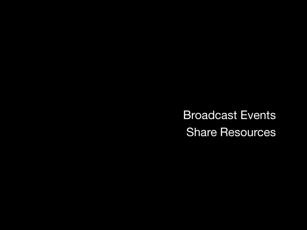 Broadcast Events Share Resources