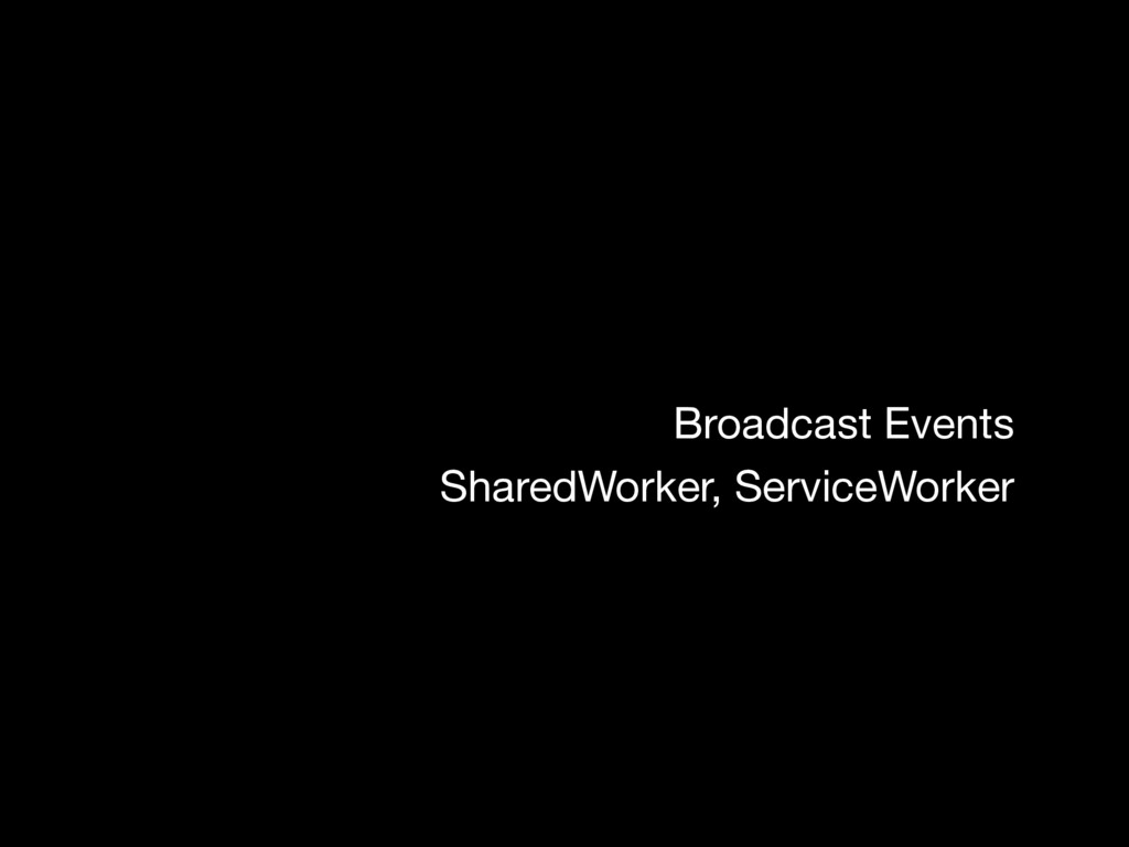 Broadcast Events SharedWorker, ServiceWorker