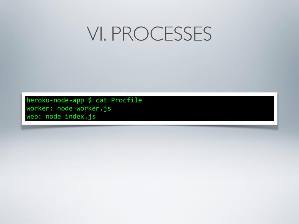VI. PROCESSES heroku-‐node-‐app $ cat...