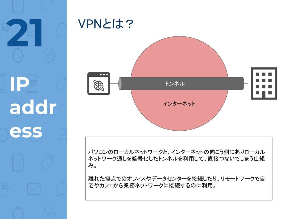 @norinux 21 IP addr ess  VPNとは? インターネット トンネル パソ...