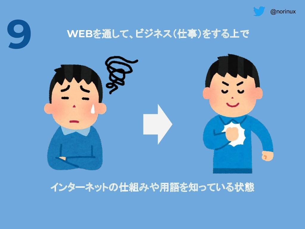 @norinux インターネットの仕組みや用語を知っている状態 WEBを通して、ビジネス(仕事...
