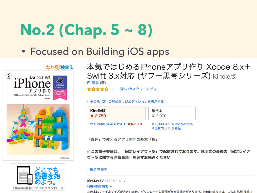 No.2 (Chap. 5 ~ 8) • Making Sample apps with 2 ...
