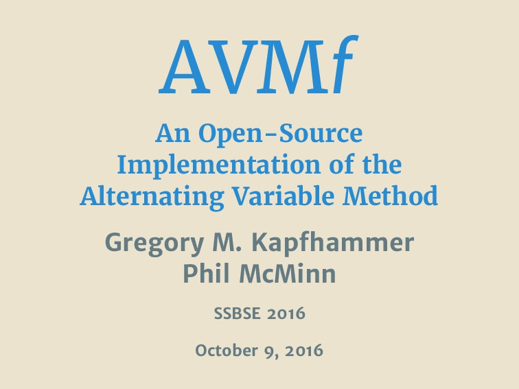 AVMf An Open-Source Implementation of the Alter...