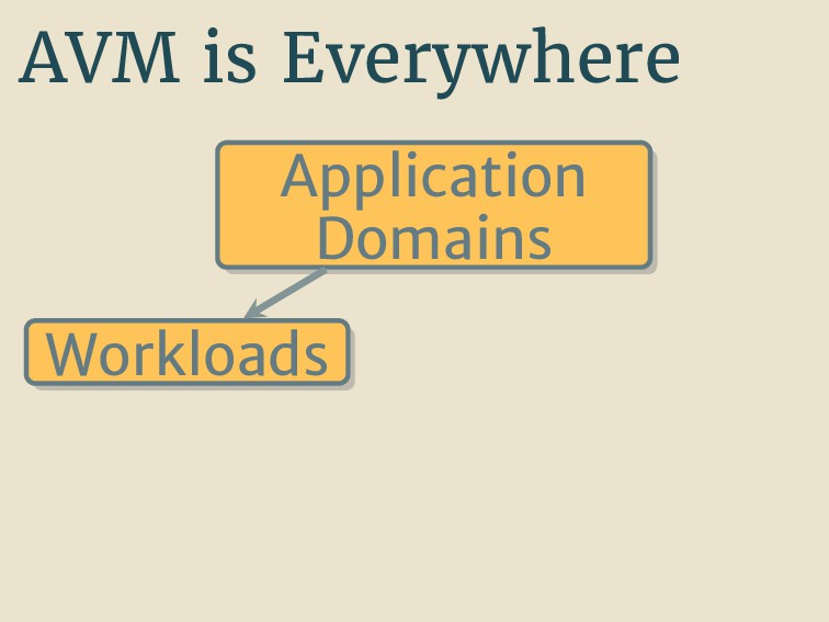 AVM is Everywhere Application Domains Workloads