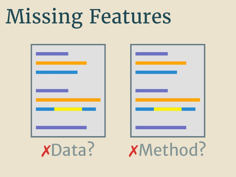 Missing Features Data? Method?