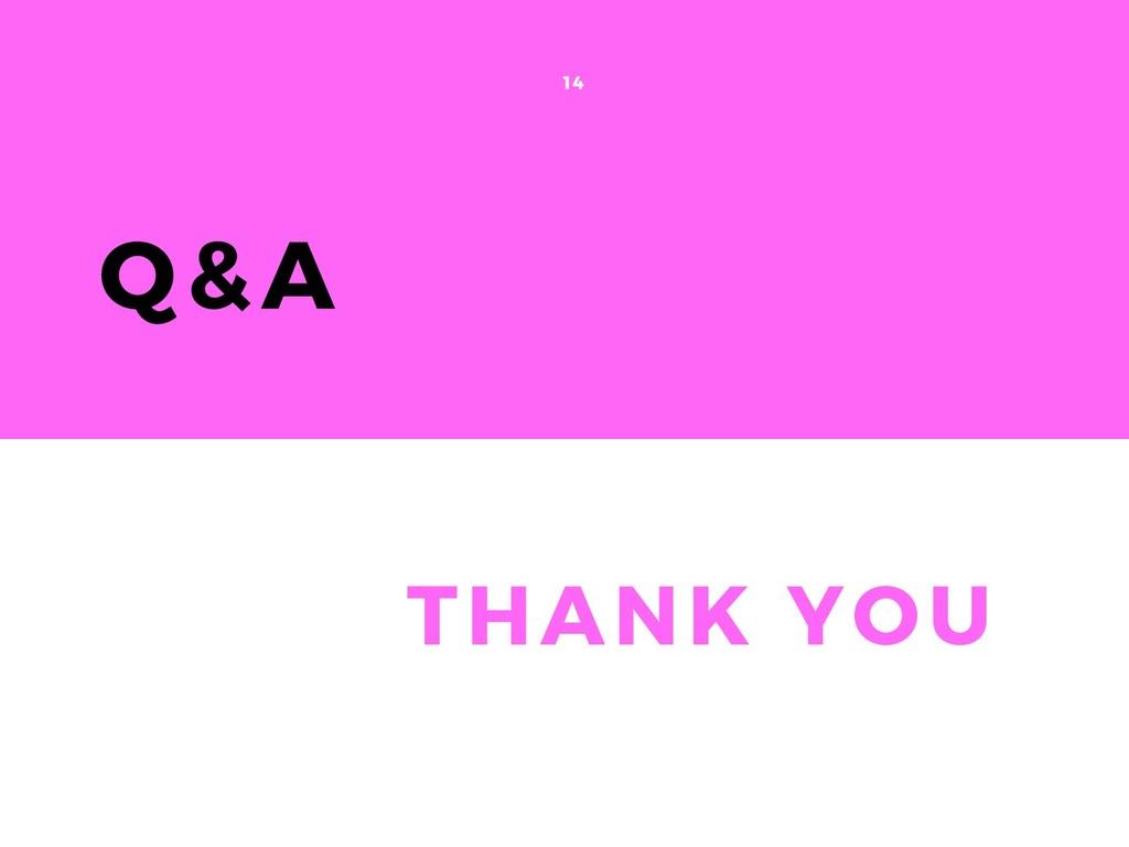 Q&A 14 THANK YOU