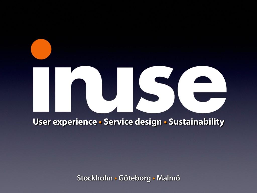 User experience • Service design • Sustainabili...