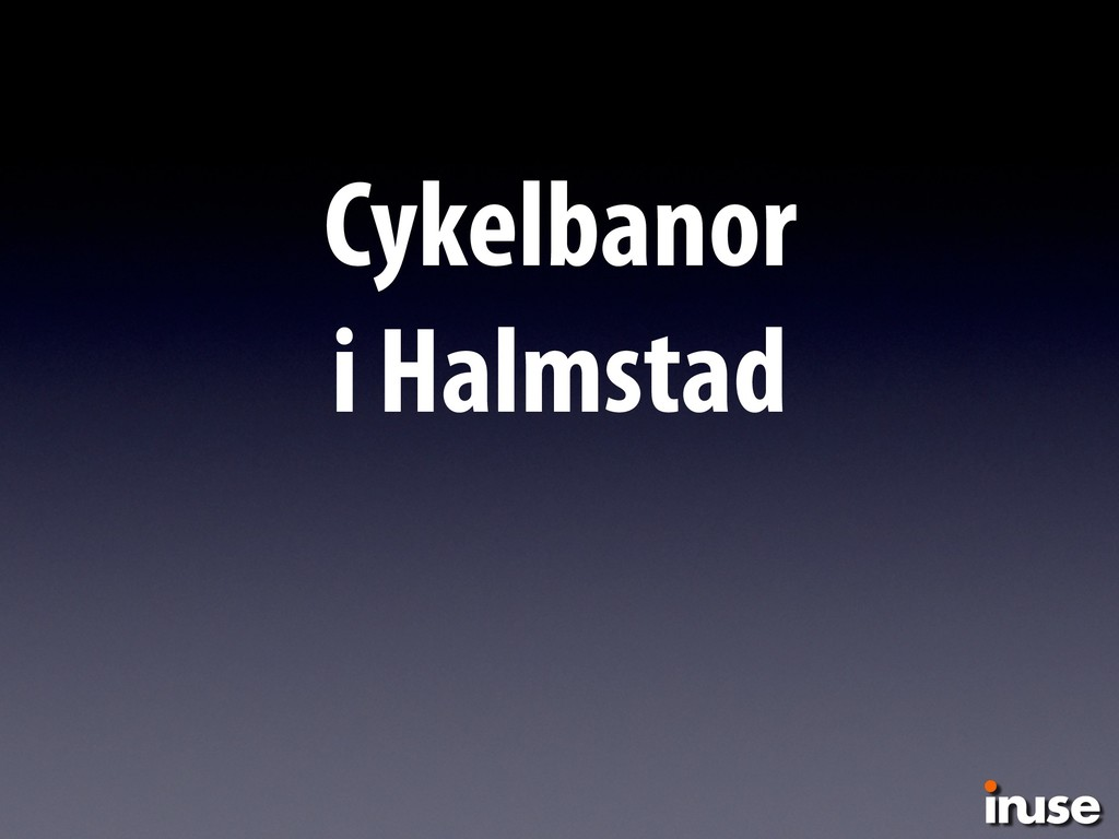 Cykelbanor  i Halmstad