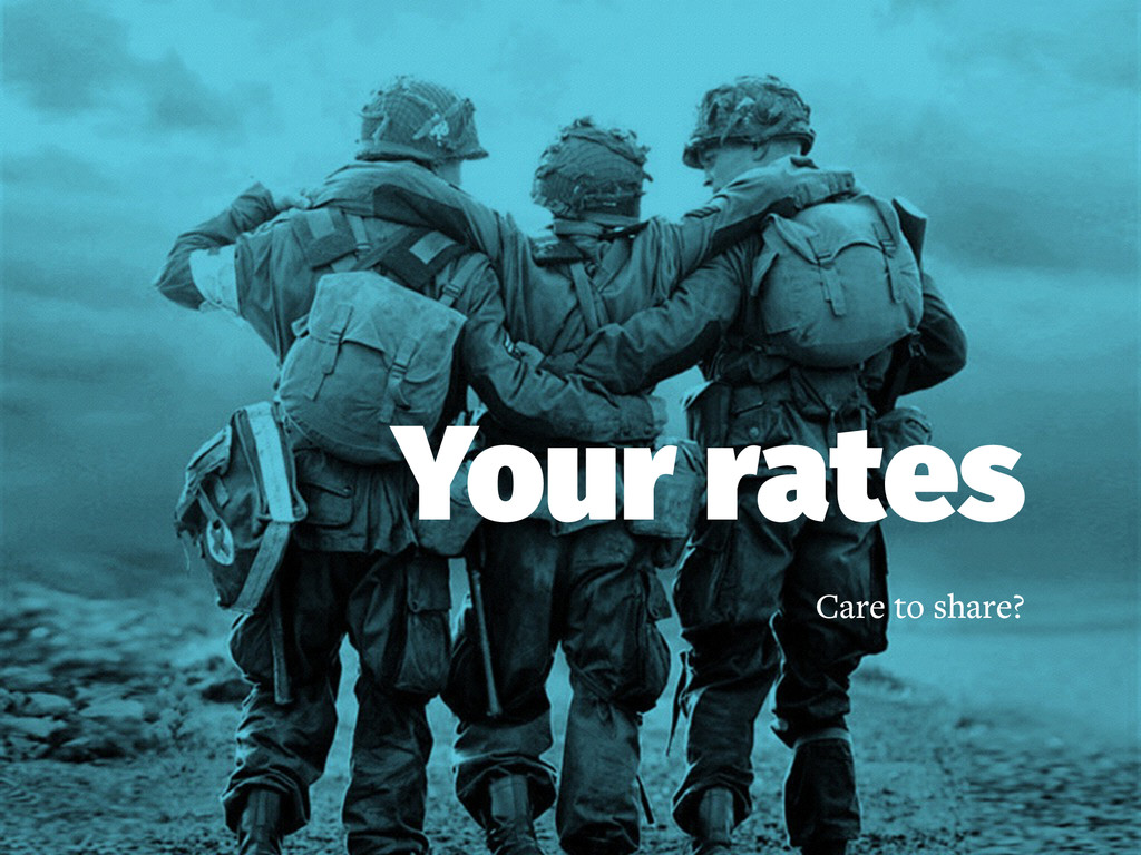 Your rates Care to share?