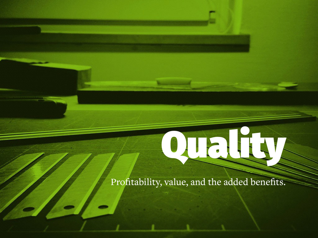 Quality Profitability, value, and the added bene...