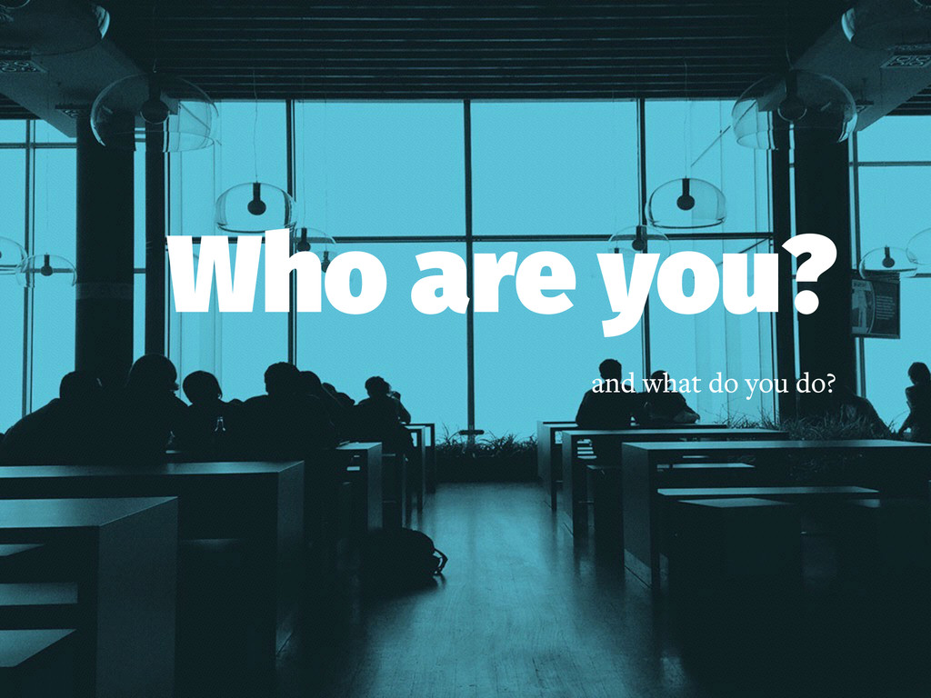 Who are you? and what do you do?