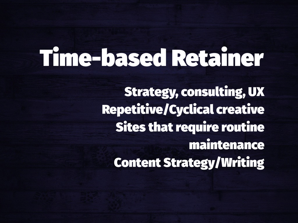 Strategy, consulting, UX Repetitive/Cyclical cr...
