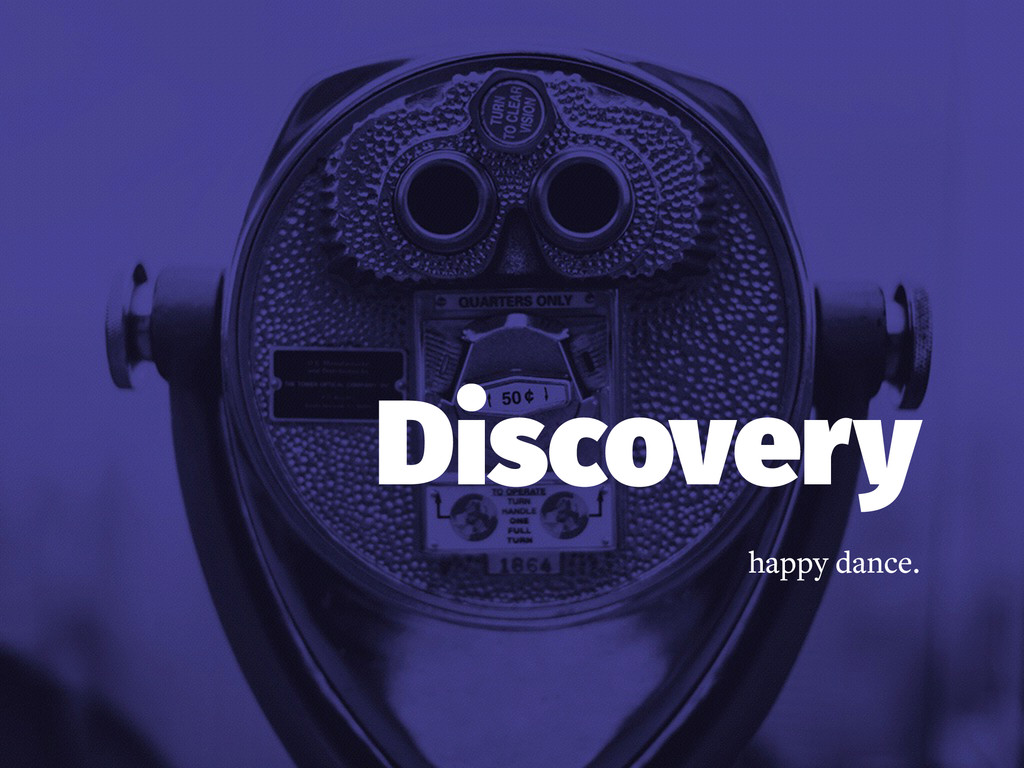 Discovery happy dance.