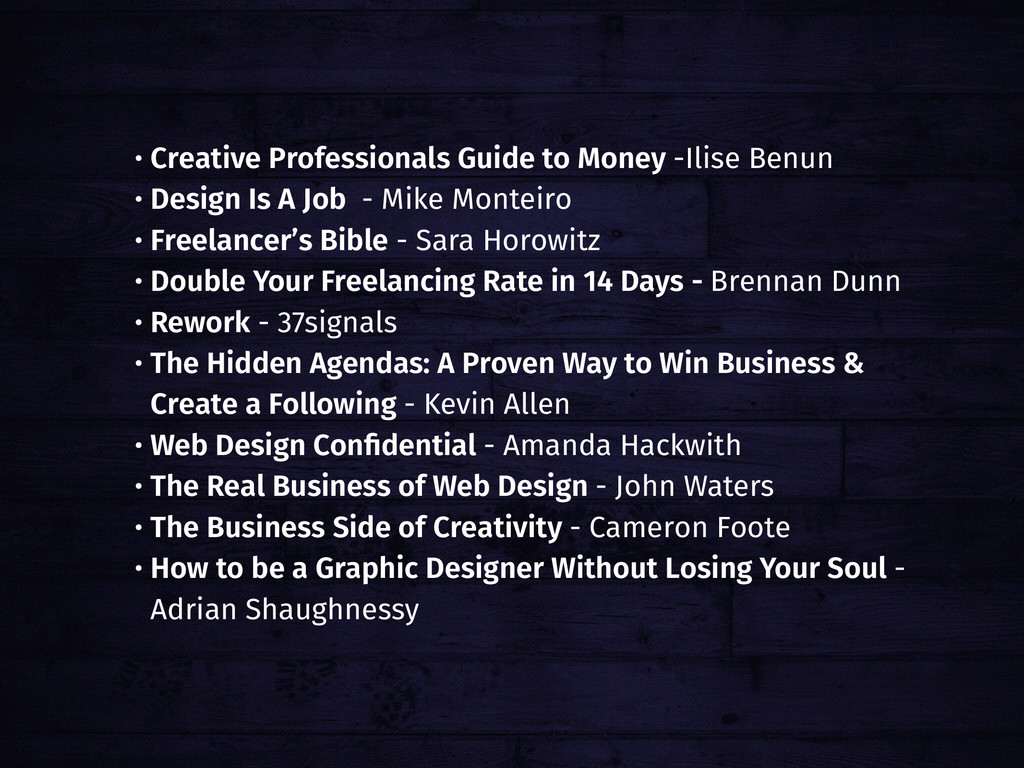 • Creative Professionals Guide to Money -Ilise ...
