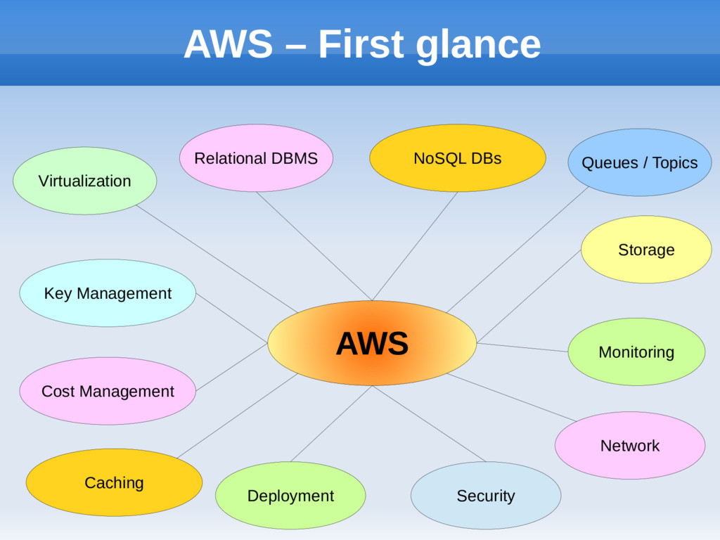 AWS Virtualization Relational DBMS NoSQL DBs Mo...