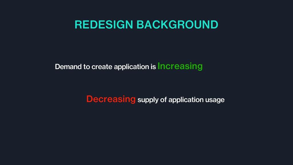 REDESIGN BACKGROUND Demand to create applicatio...