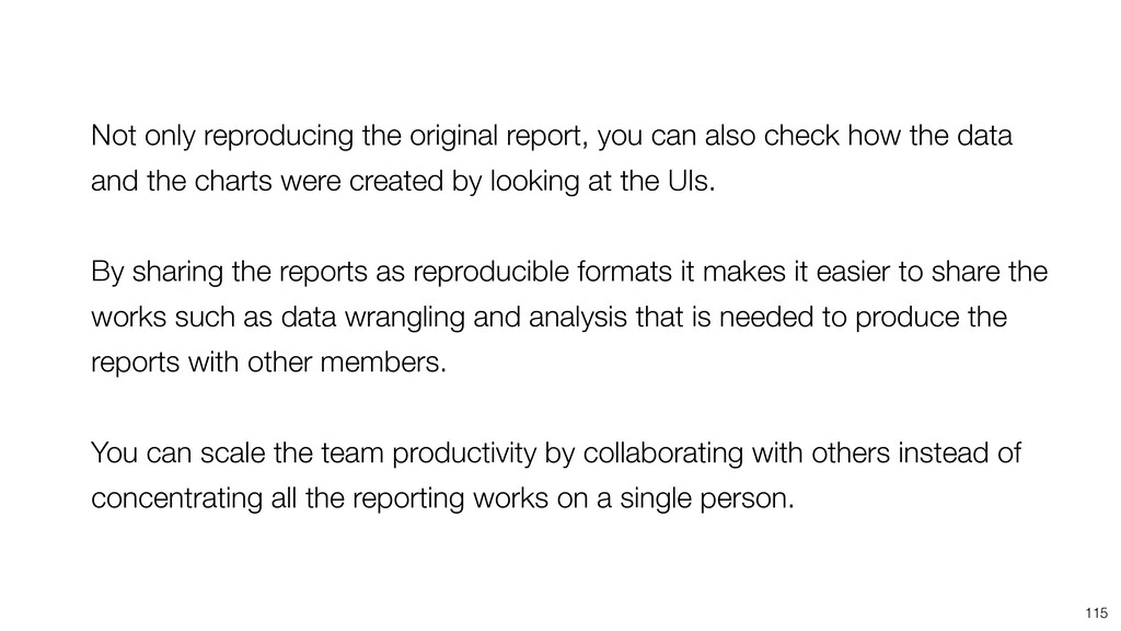 115 Not only reproducing the original report, y...