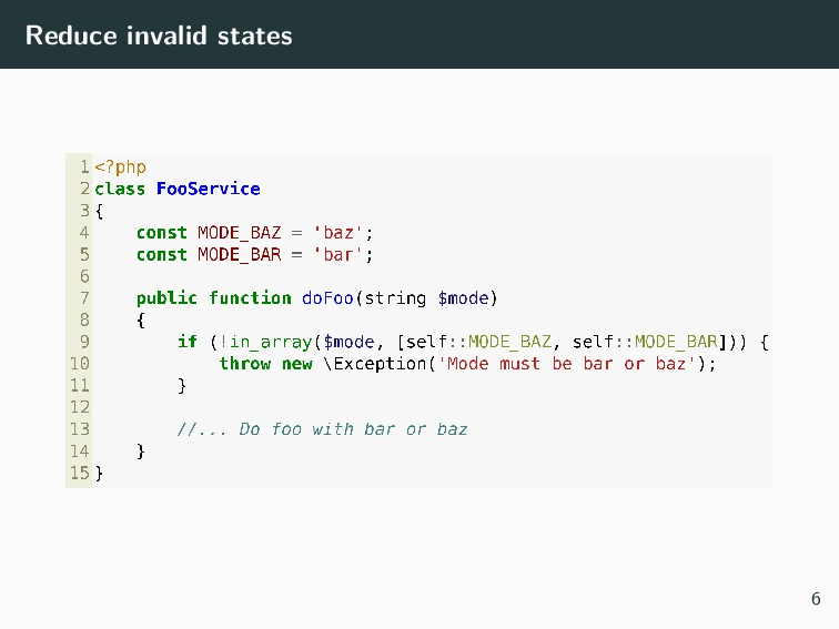 Reduce invalid states 6